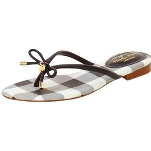 Kate Spade Plaid Bow Sandals